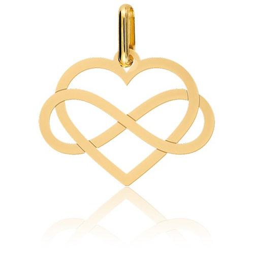 Pendentif coeur infini en or jaune