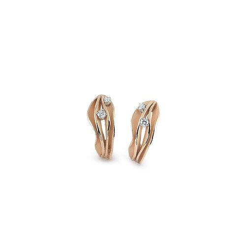 Boucles d'oreille Dune or rosé/orangé et diamants Annamaria Cammilli