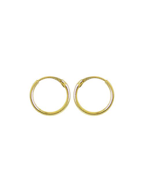 Créoles enfant 12mm en or jaune