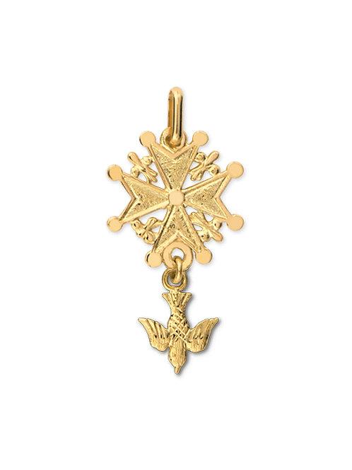 Croix huguenote en or jaune