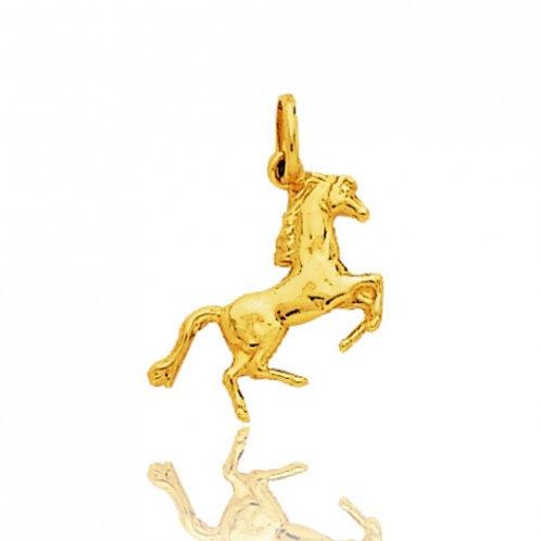 Pendentif cheval cabré or jaune