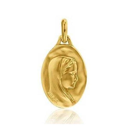 Médaille vierge en or jaune 18 carats AUGIS