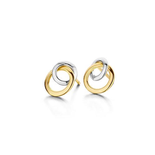 Boucles d'oreille or jaune et blanc Beheyt