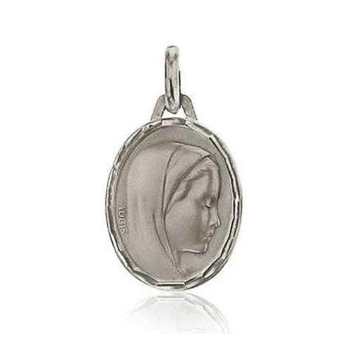 Médaille vierge en or blanc 18 carats AUGIS