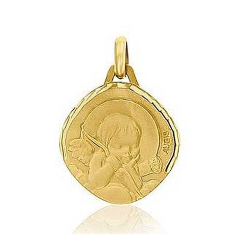 Médaille ange en or jaune 18 carats AUGIS