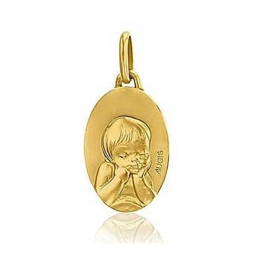 Médaille enfant en or jaune 18 carats AUGIS