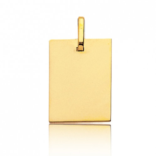 Pendentif rectangle en or jaune