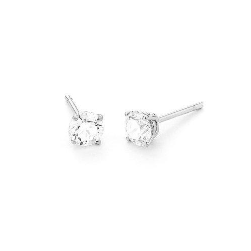 Boucles d'oreille en or blanc et diamants FACET