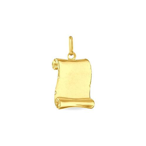 Copie de Pendentif parchemin en or jaune moyen modèle