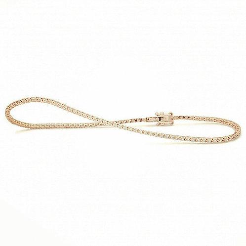 Bracelet rivière or jaune et diamants 0,25ct