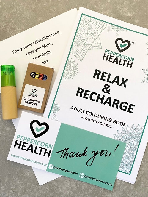 Adult Positivity Colouring Book set