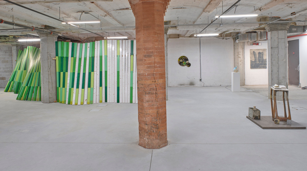 "left to right  Cordy Ryman ""Green Wave"" 