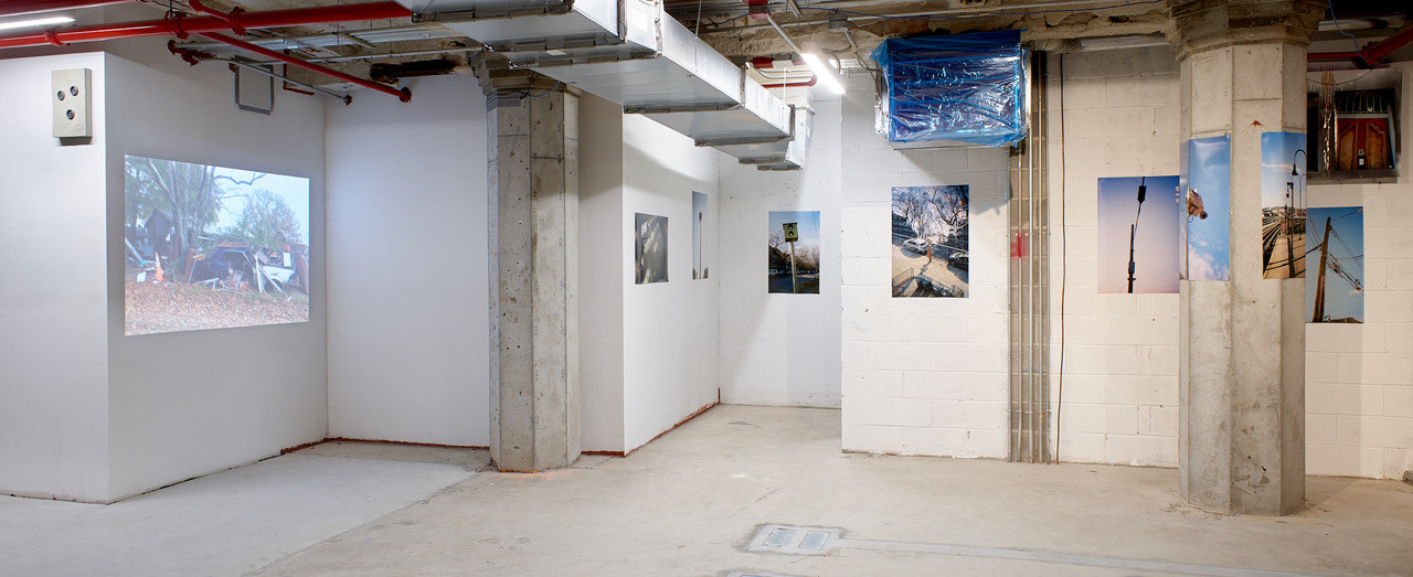 """left to right  Virginia Yearick """"Beulah Land"""" Video  2020  Solo Untitled Photographs dimensions variable 2019"""