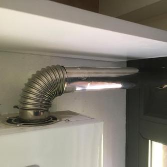 Detalle de salida Boiler