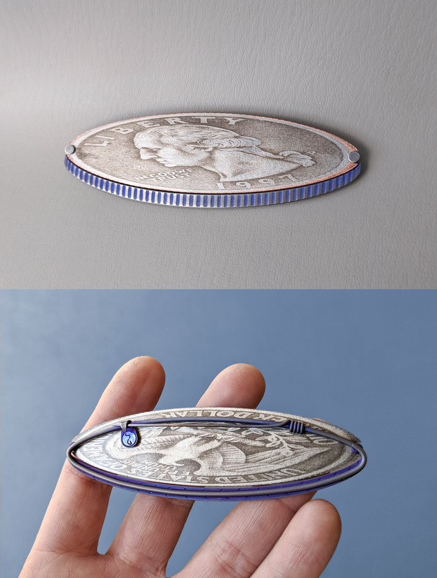 Stretched Quarter Brooch