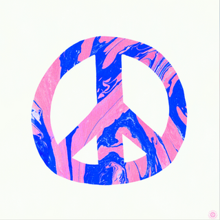 peace, blue & pink