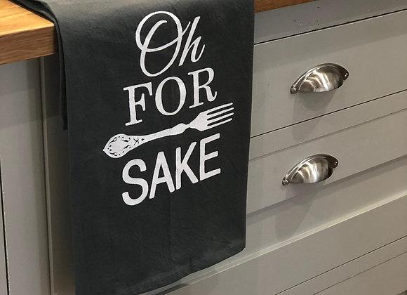 Oh For Forks Tea Towel