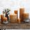 Thumbnail: Rustic Pillar Candle - mustard