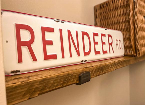 Reindeer Road Sign