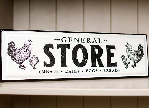 General Store Metal Wall Plaque