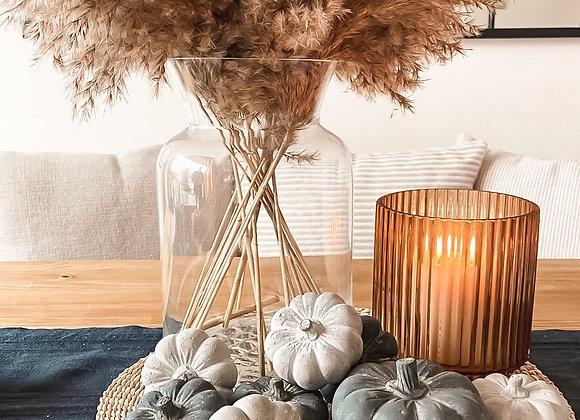 Grey Concrete Pumpkins