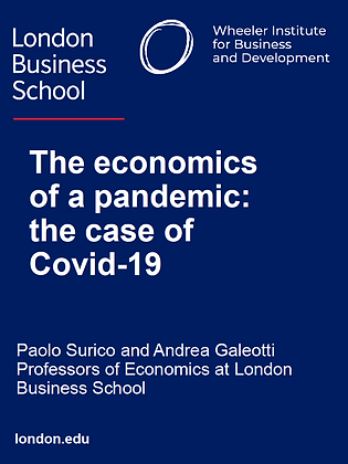 The Economics of a Pandemic: The Case of Covid 19
