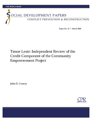 Review of the Timor-Leste Community Empowerment Project, 2004
