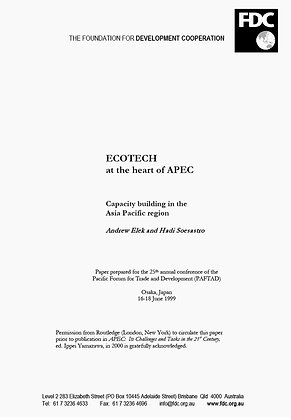 ECOTECH at the Heart of APEC, 1999