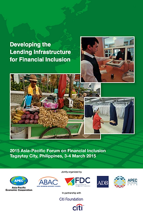 Developing the Lending Infrastructure for Financial Inclusion, 2015