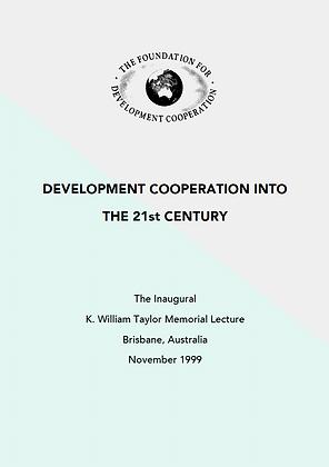 Development cooperation into the 21st century, 1999