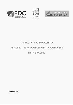 An Approach to Key Credit Risk Management Challenges in the Pacific, 2015