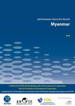 Microfinance Industry Assessment MYANMAR, 2010