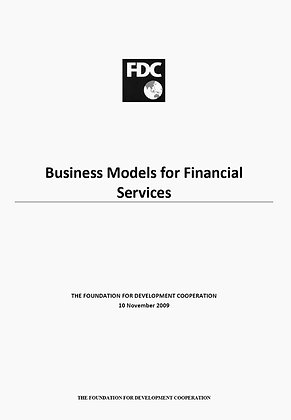 Business models for financial services, 2009