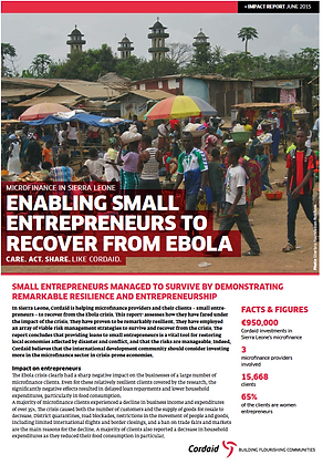 Enabling Small Entrepreneurs to Recover from Ebola
