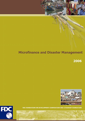 Microfinance and disaster management briefs, 2006