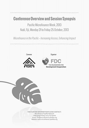 Microfinance in the Pacific - Increasing Access, Enhancing Impact, 2013