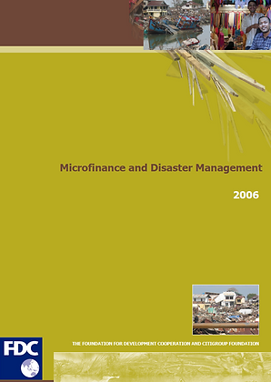 Microfinance and Disaster Management