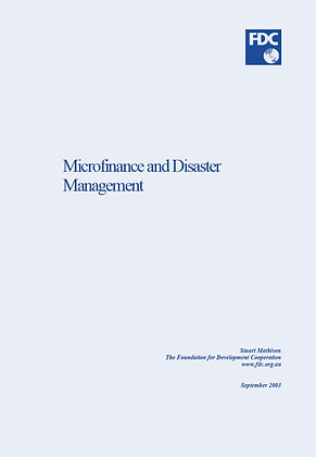 Microfinance and Disaster Management, 2003