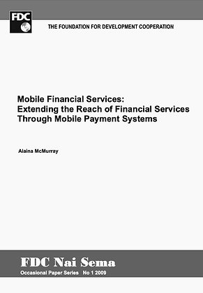 Extending the reach of financial services through mobile payment systems, 2009