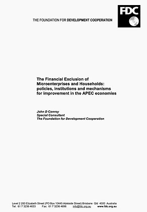 The Financial Exclusion of Microenterprises and Households