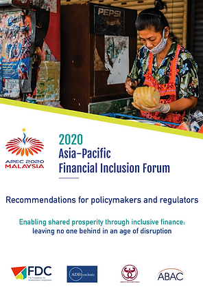 Enabling shared prosperity through inclusive finance, 2020