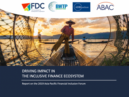 Driving Impact in the Inclusive Finance Ecosystem: Recommendations for Policy Makers and Regulators