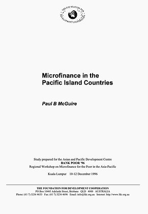 Microfinance in the Pacific Island Countries, 1996