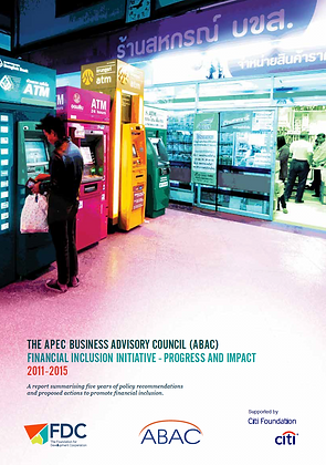 The ABAC Financial Inclusion Initiative - Progress and Impact,2015