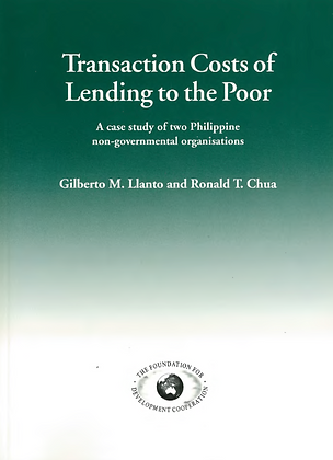 Transaction costs of lending to the poor Philippines, 1995