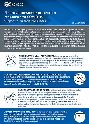 Financial consumer protection responses to COVID-19