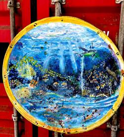 Peinture aquatique sur panneau