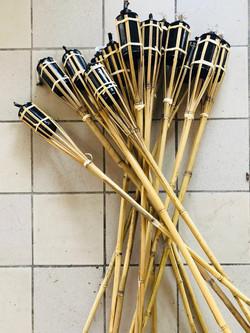 Flambeaux en bambou