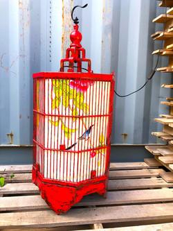 Grande lanterne chinoise rouge