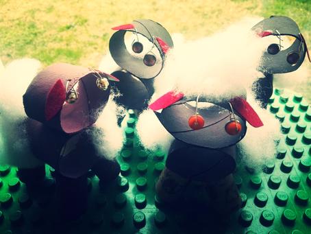 Petit troupeau de moutons rigolos!